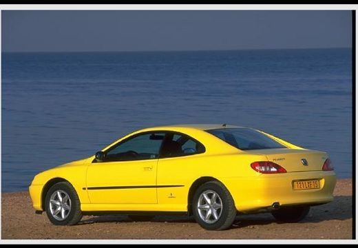 PEUGEOT 406 coupe żółty tylny lewy