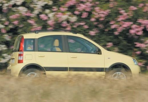 FIAT Panda II hatchback żółty boczny prawy