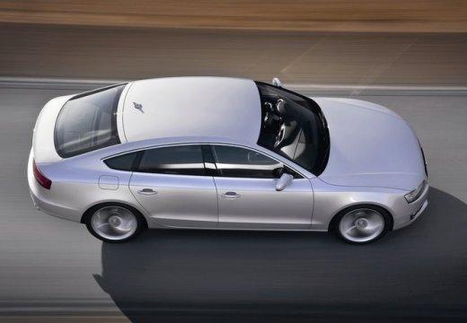AUDI A5 hatchback silver grey boczny prawy