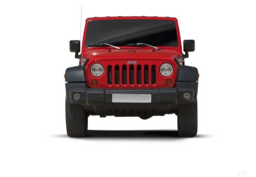 JEEP Wrangler III soft top czerwony jasny przedni