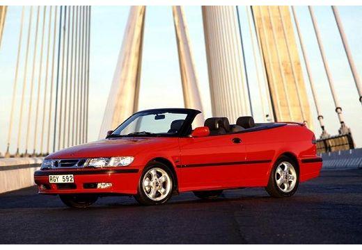 SAAB 9-3 kabriolet czerwony jasny przedni lewy