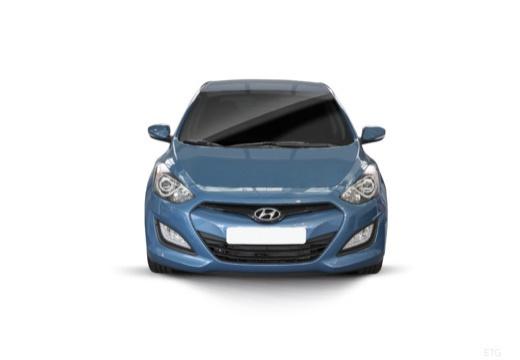 HYUNDAI i30 III hatchback niebieski jasny przedni
