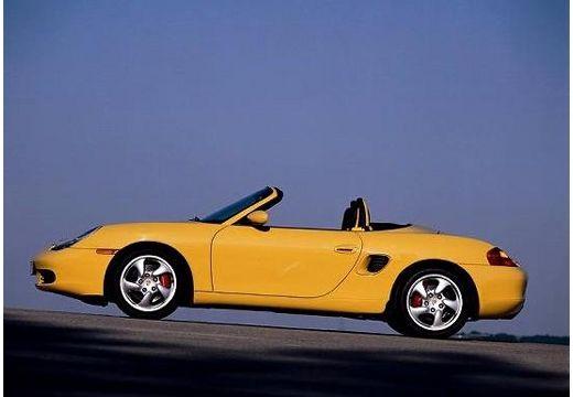 PORSCHE Boxster 986 roadster żółty boczny lewy