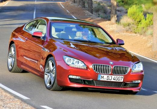 BMW Seria 6 coupe czerwony jasny przedni prawy