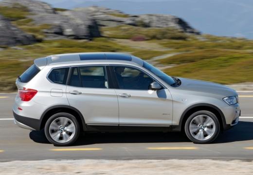 BMW X3 X 3 F25 I kombi silver grey boczny prawy