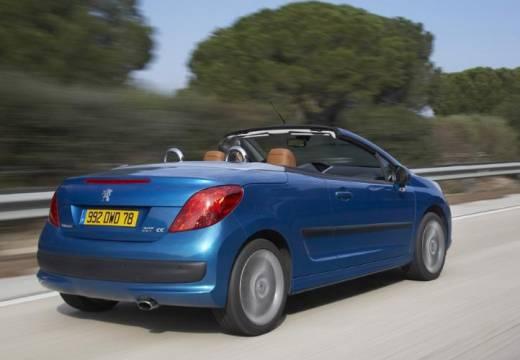 PEUGEOT 207 kabriolet niebieski jasny tylny prawy