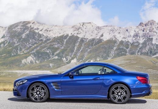 MERCEDES-BENZ Klasa SL roadster niebieski jasny boczny lewy