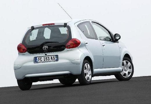 Toyota Aygo I hatchback niebieski jasny tylny prawy