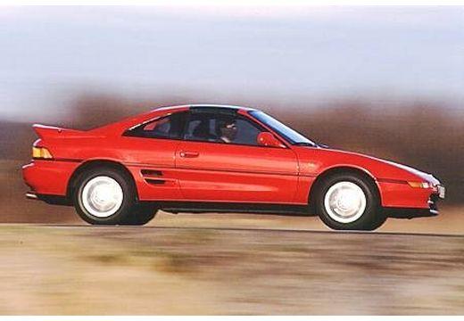 Toyota MR2 coupe czerwony jasny boczny prawy