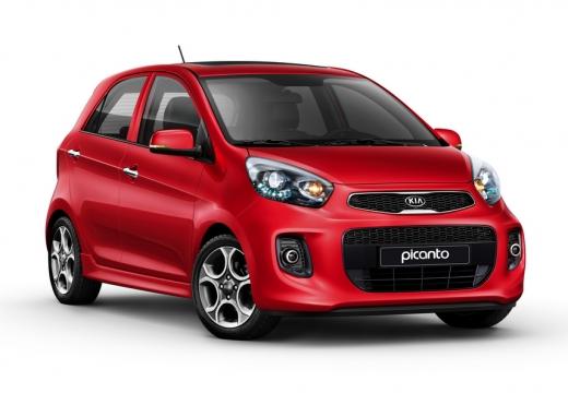 KIA Picanto hatchback czerwony jasny przedni prawy