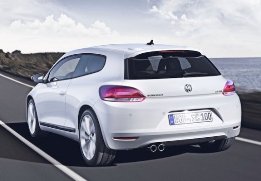 VOLKSWAGEN Scirocco coupe biały tylny lewy