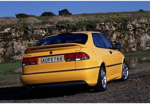 SAAB 9-3 I hatchback żółty tylny prawy