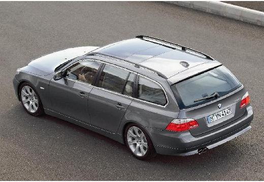 BMW Seria 5 Touring E61 I kombi szary ciemny tylny lewy
