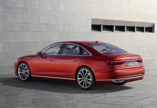 AUDI A8 4N sedan czerwony jasny tylny lewy