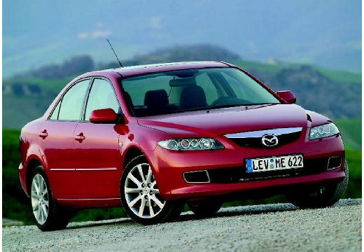 MAZDA 6 II hatchback czerwony jasny przedni prawy