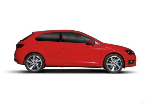 SEAT Leon IV hatchback czerwony jasny boczny prawy
