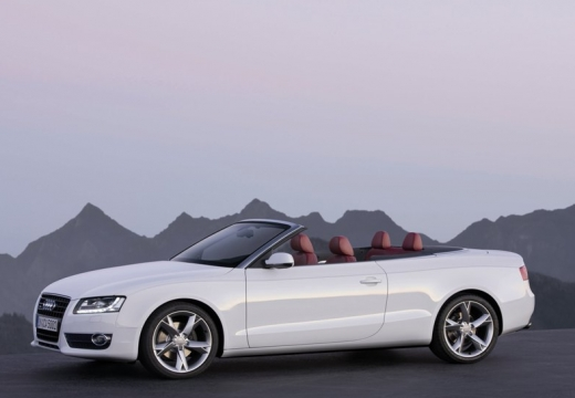 AUDI A5 kabriolet biały przedni lewy