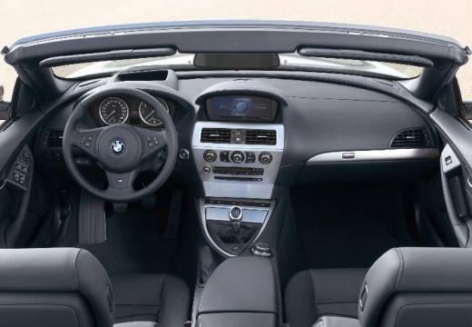 BMW Seria 6 Cabriolet E64 II kabriolet silver grey tablica rozdzielcza