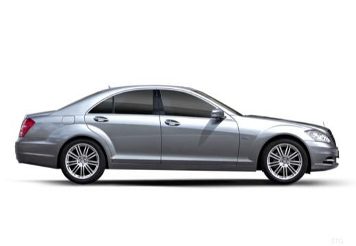 MERCEDES-BENZ Klasa S sedan silver grey boczny prawy