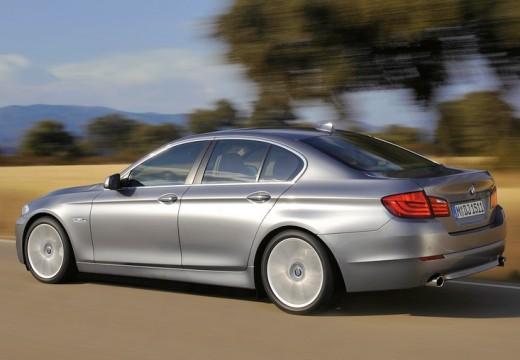 BMW Seria 5 F10 I sedan silver grey tylny lewy