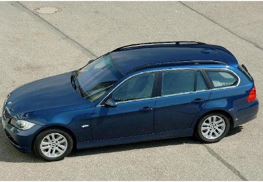 BMW Seria 3 kombi niebieski jasny przedni lewy