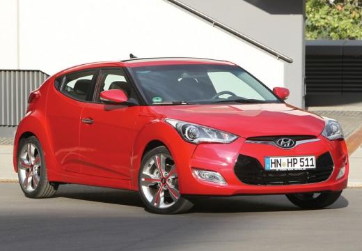 HYUNDAI Veloster I coupe czerwony jasny przedni prawy