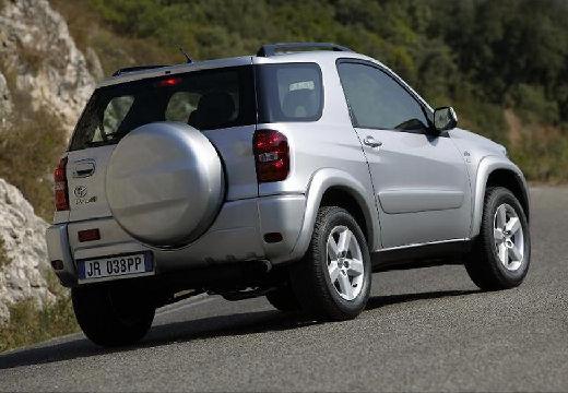 Toyota RAV4 kombi silver grey tylny prawy