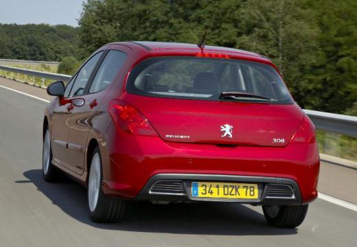 PEUGEOT 308 I hatchback czerwony jasny tylny lewy
