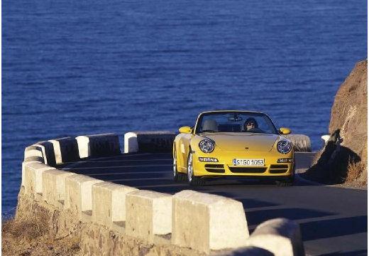 PORSCHE 911 Cabrio 997 kabriolet żółty przedni prawy