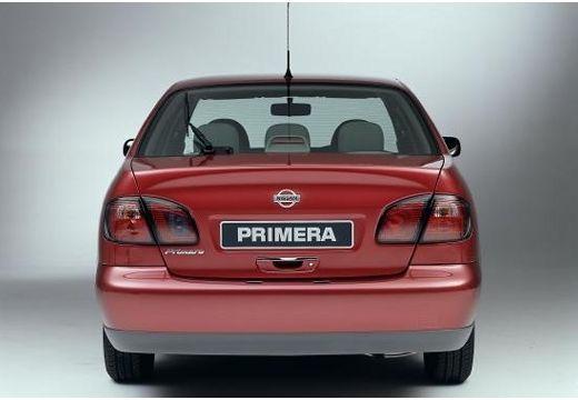 NISSAN Primera III sedan bordeaux (czerwony ciemny) tylny