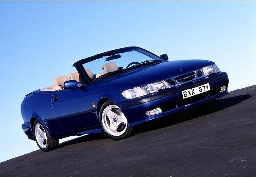 SAAB 9-3 Cabriolet I kabriolet niebieski jasny przedni prawy