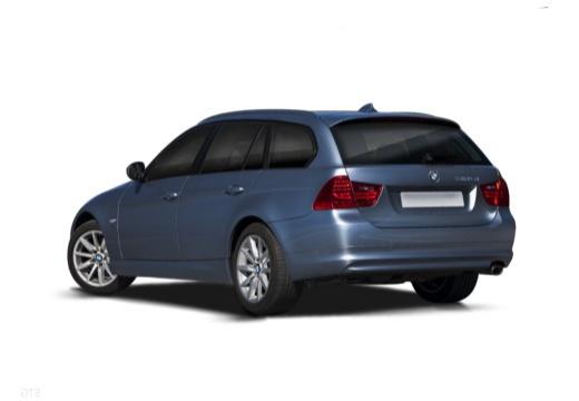 BMW Seria 3 Touring E91 II kombi niebieski jasny tylny lewy