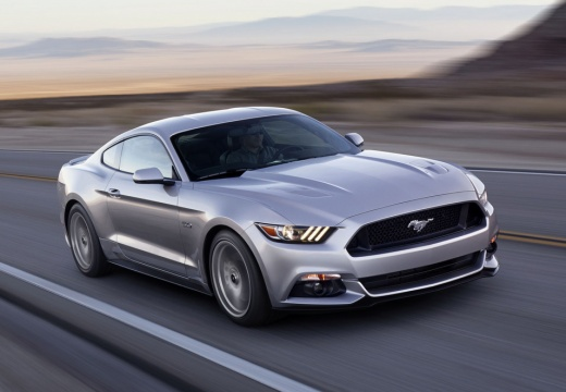 FORD Mustang Fastback I coupe silver grey przedni prawy