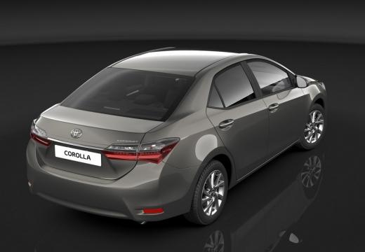 Toyota Corolla sedan silver grey tylny prawy