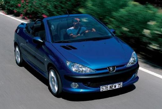 PEUGEOT 206 CC I kabriolet niebieski jasny przedni prawy