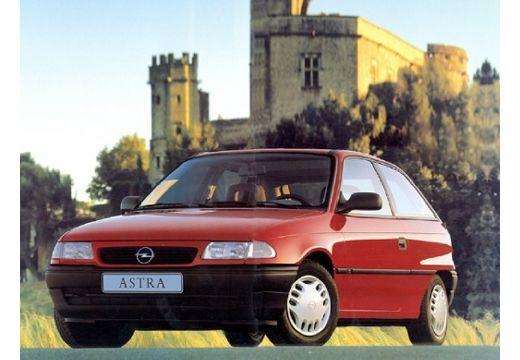 OPEL Astra I hatchback czerwony jasny przedni lewy