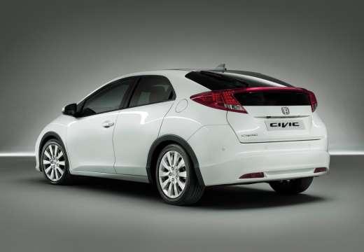 HONDA Civic VIII hatchback biały tylny lewy