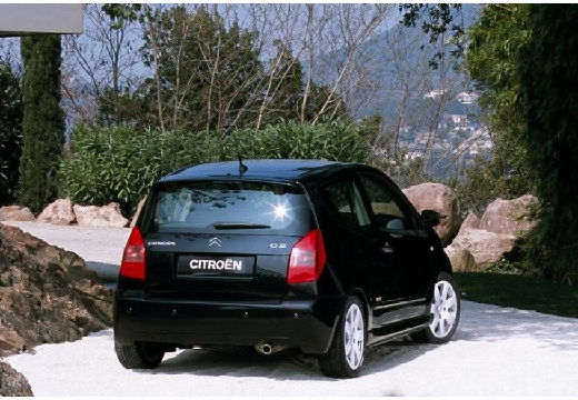 CITROEN C2 I hatchback czarny tylny prawy