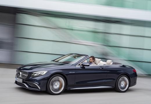 MERCEDES-BENZ Klasa S Coupe kabriolet niebieski jasny przedni lewy