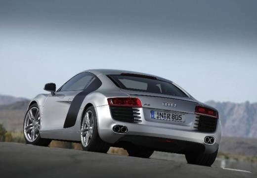 AUDI R8 I coupe silver grey tylny lewy