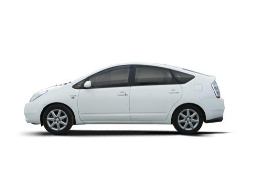 Toyota Prius I hatchback biały boczny lewy