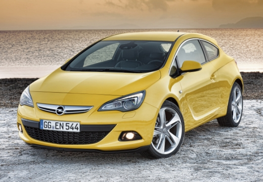 OPEL Astra IV GTC I hatchback żółty przedni lewy