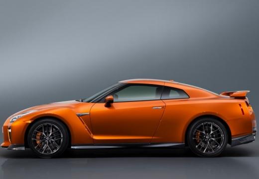 NISSAN GT-R coupe pomarańczowy boczny lewy