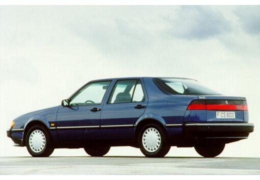 SAAB 9000 hatchback niebieski jasny tylny lewy
