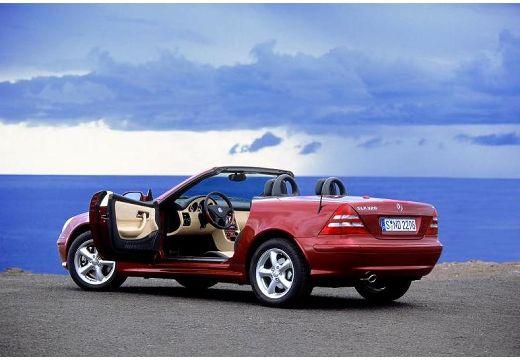 MERCEDES-BENZ Klasa SLK SLK R 170 kabriolet bordeaux (czerwony ciemny) tylny lewy