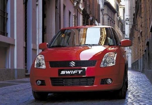 SUZUKI Swift hatchback czerwony jasny przedni