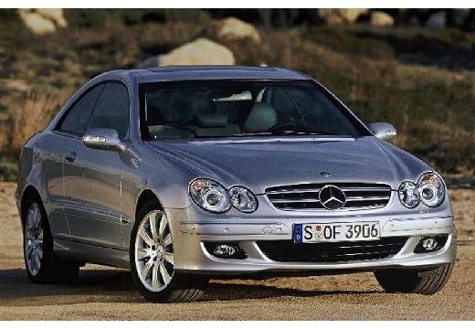 MERCEDES-BENZ Klasa CLK coupe silver grey przedni prawy