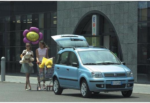 FIAT Panda II hatchback niebieski jasny przedni prawy