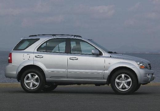 KIA Sorento II kombi silver grey boczny prawy