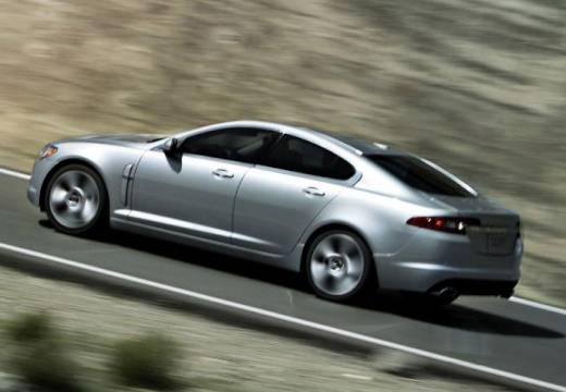 JAGUAR XF I sedan silver grey tylny lewy